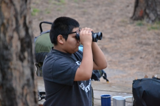 Photo by Mario Andreatta Freshman Chris Cordova scopes out the camp spot