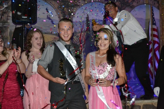 Seniors GW Cope and and Shelby Ostrom were crowned ASK Prom King and Queen at the dance on Friday.