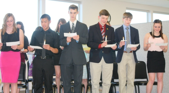 New members were inducted into the National Honor's Society in early April.