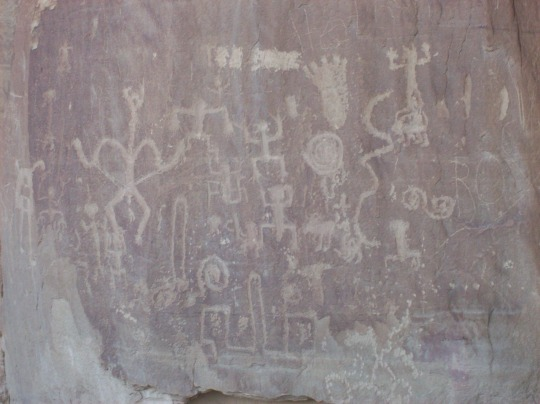 Photo by Gabi Orr-Dick Petroglyphs at Chaco Canyon