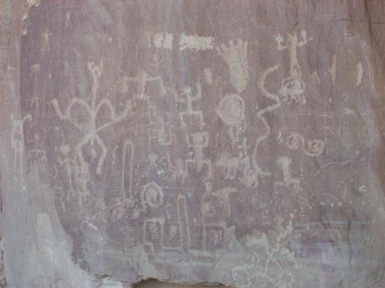 Photo by Gabi Orr-Dick Petroglyphs at Chaco Canyon