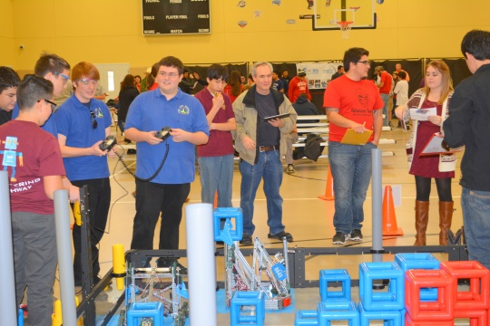 The Robotics Team, ASK Academy Androids, won a VEX Robotics competition at White Sands Missile Range last week.