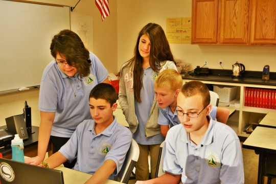 Photo by Emily Garcia Eighth grade scholars prep for high school by deciding their pathway.