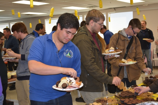 Photos by Paige Fairchild -- Last year's ASK Academy Thanksgiving Pot Luck.