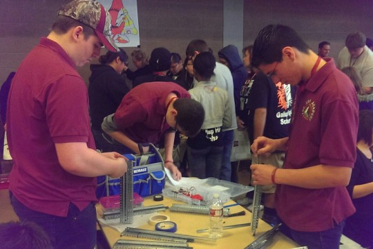 """ASK Scholars took second place in the New Mexico State University VEX Robotics Competition last week. The team will be headed to  Nationals in Nebraska in April. """"I think we did very well overall,"""" said senior Robert Dansro. """"The competition at the state was very competitive this year, which was nice to see."""""""