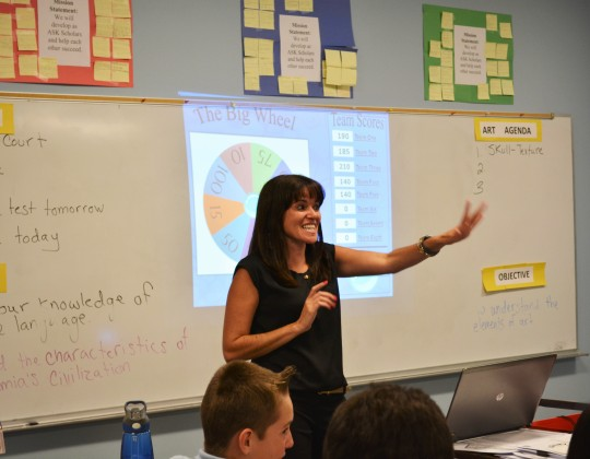 Photo by Amber Romero Project Manager Janisse Vasquez said loves teaching middle school because it's a challenge.