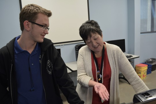 Photo by Naudia Lane. Kemnitz said Ms. Shimada mentored him during the scholarship process.